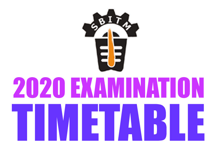 Exam Timetable June 2020