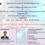 """WEBINAR on """"Importance of Industrial Training Program on Various Languages."""""""